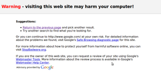 Google is Malware?